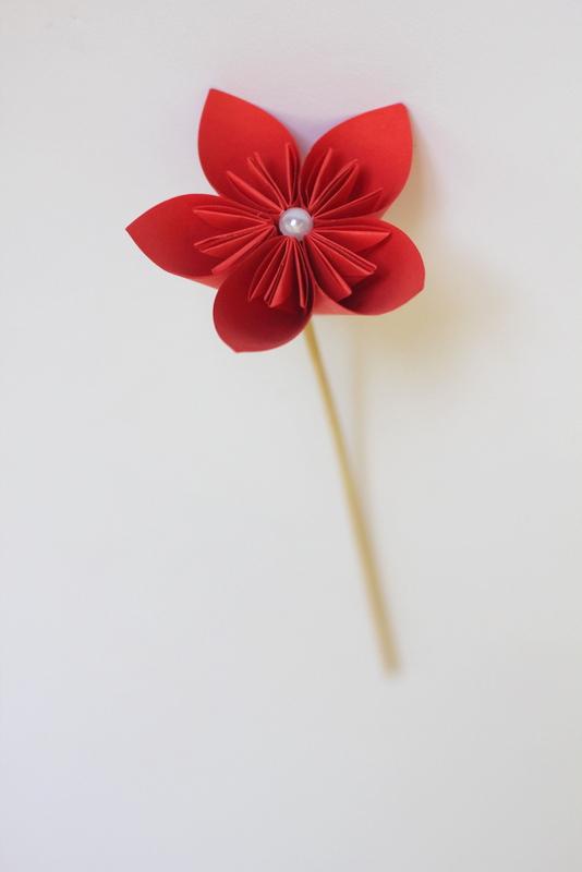 گل اوریگامی