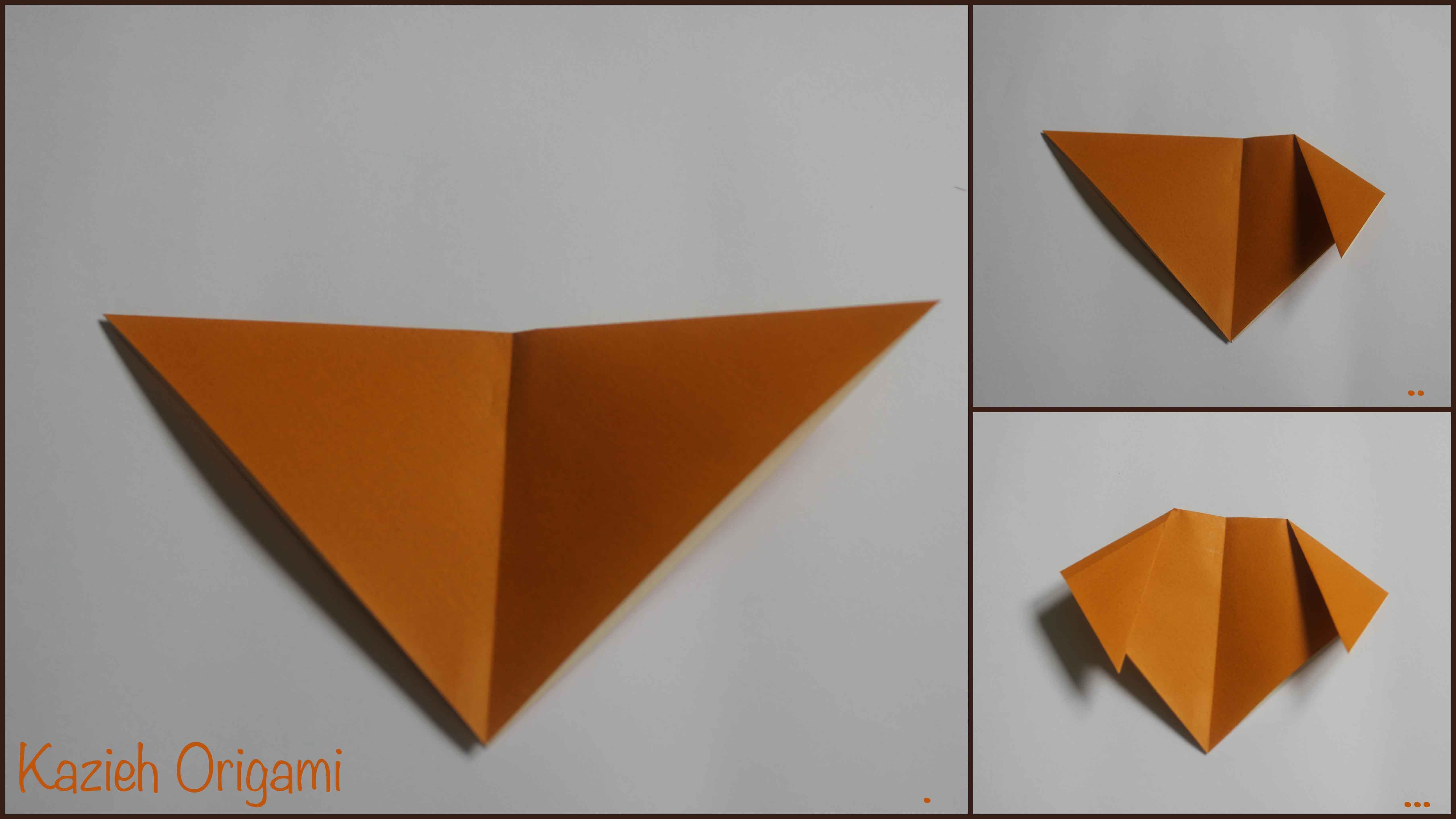 آموزش صورت سگ اوریگامی -مرحله سوم- کازیه