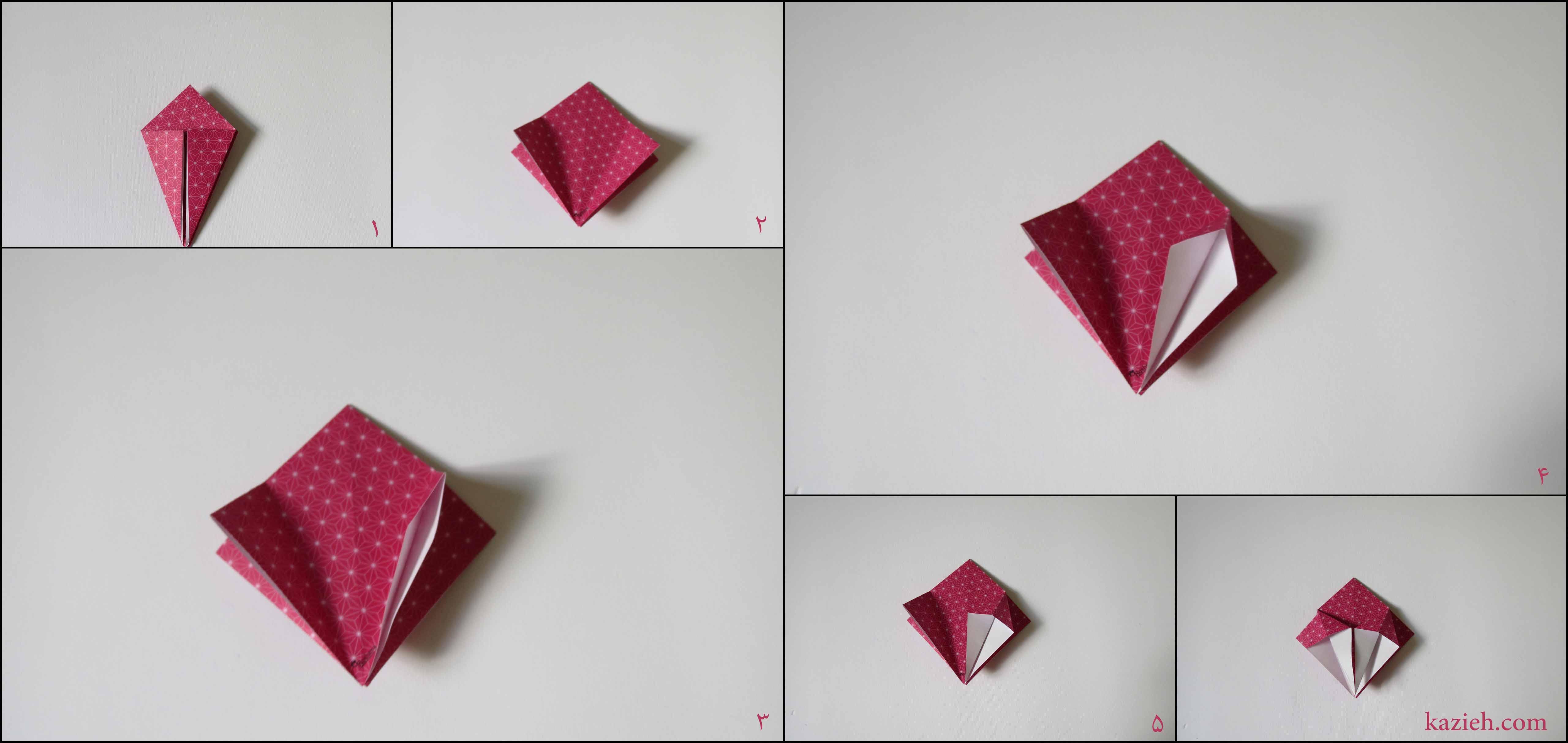 آموزش جعبه ستارهای اوریگامی کازیه - مرحله