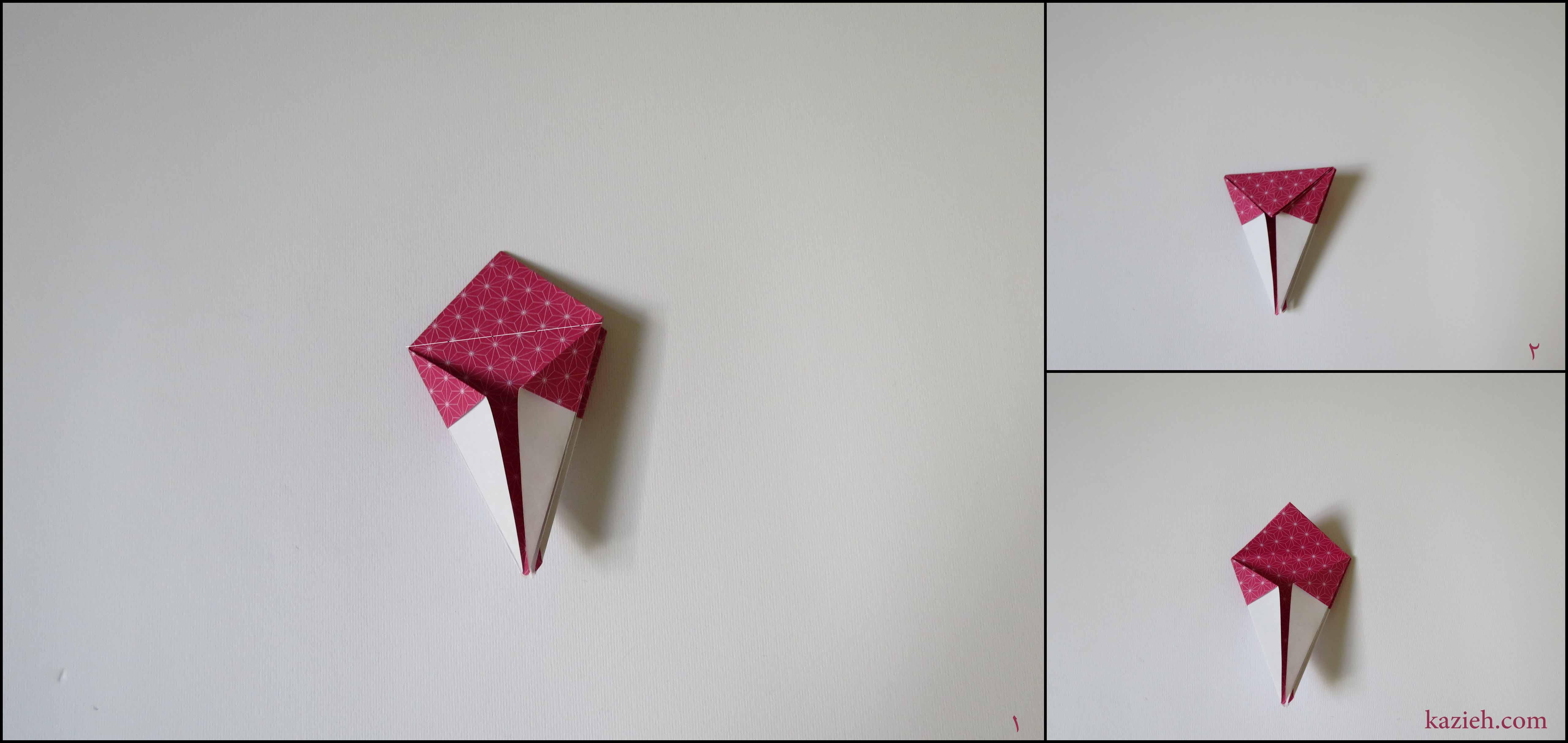آموزش جعبه ستارهای اوریگامی کازیه - مرحله ششم