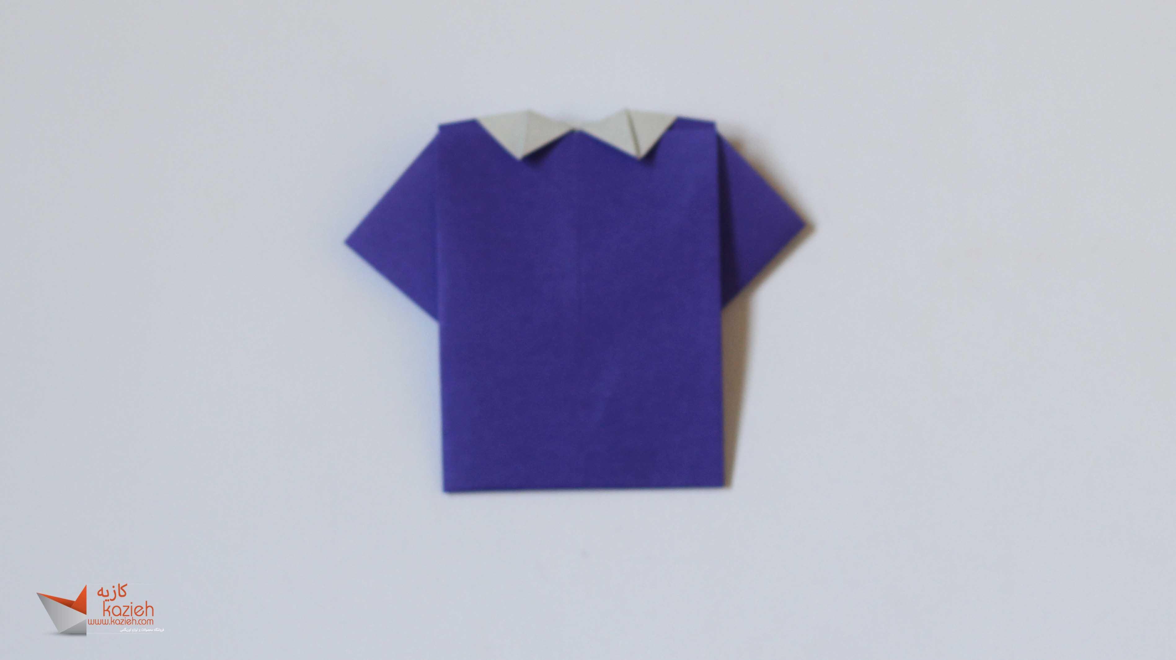آموزش پیراهن مردانه اوریگامی- اریگامی - کاغذوتا origami tshirt