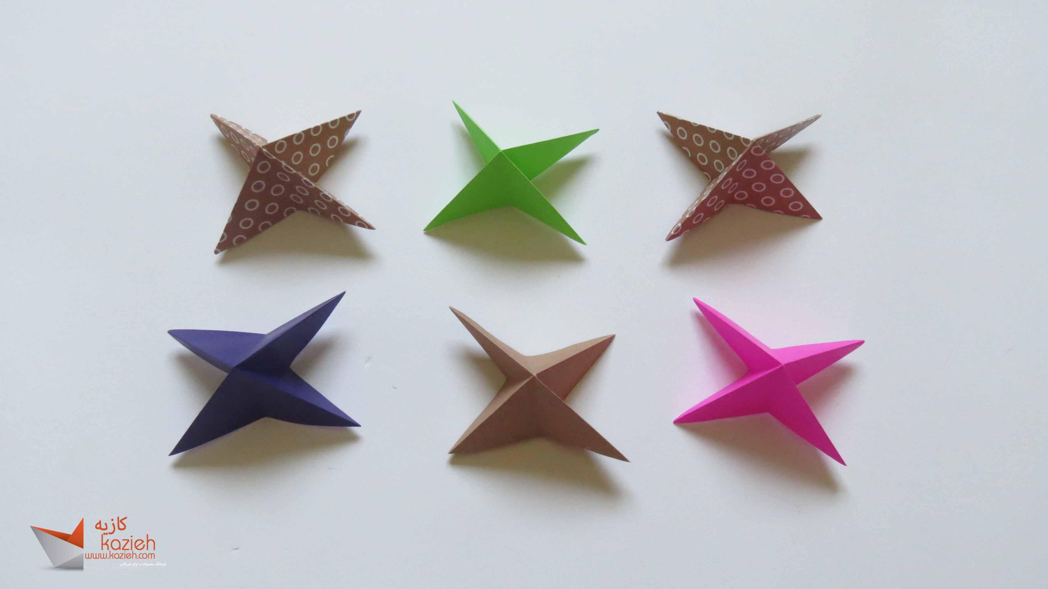 آموزش هشت وجهی اوریگامی - مرحله دوم