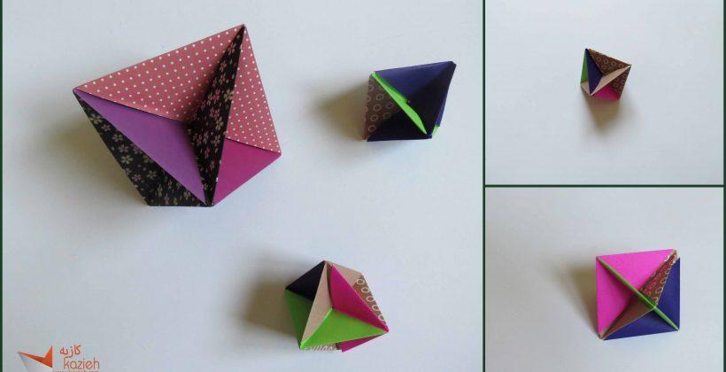 هشت وجهی اوریگامی Octahedral6