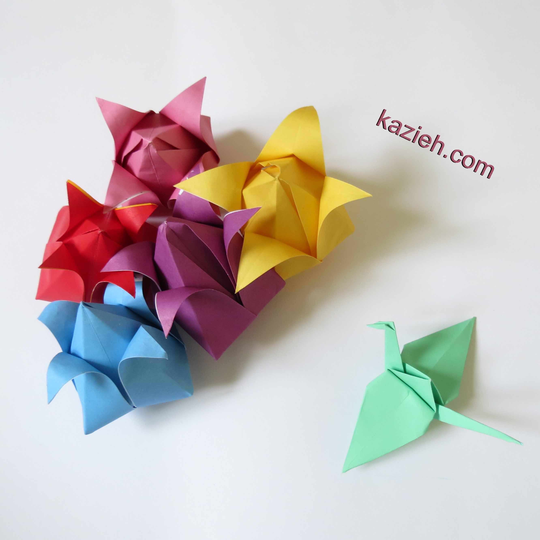 گل اوریگامی - کازیه - درنا اوریگامی