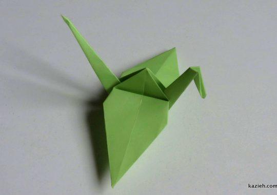 آموزش ویدیویی درنا اریگامی - کازیه اریگامی کاغذوتا پرنده